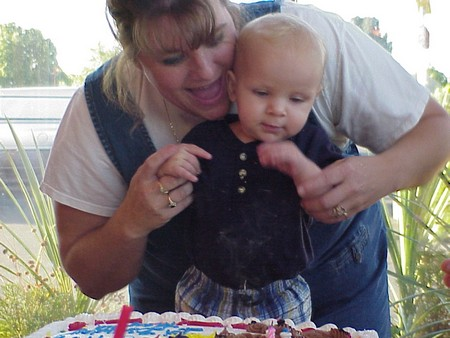 Photo of Kayden's first birthday party.