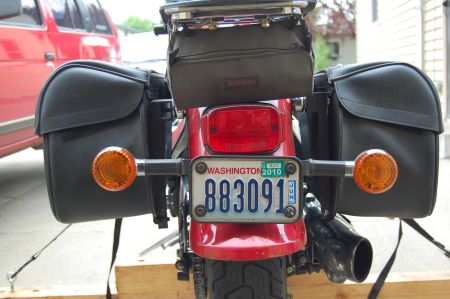 Photo of turn signals completed.